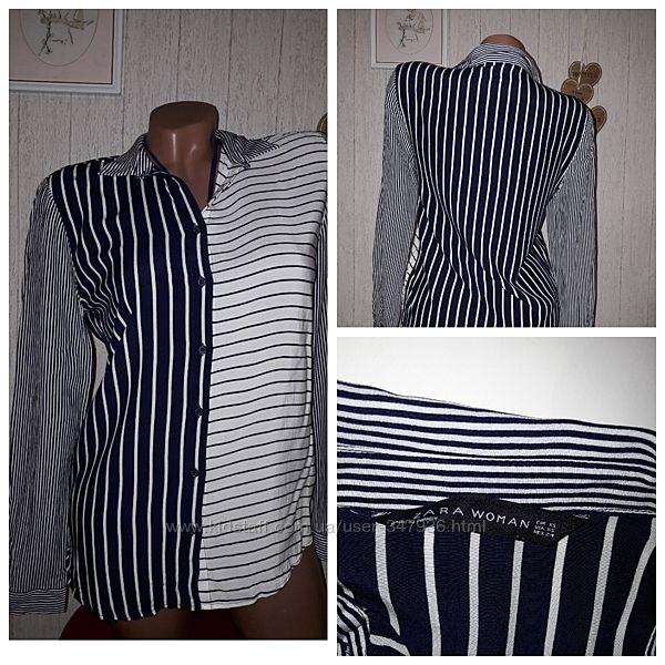 Zara стильная блуза xs