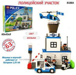 Конструктор Jixin 8188A Полицейский участок, 8188 а