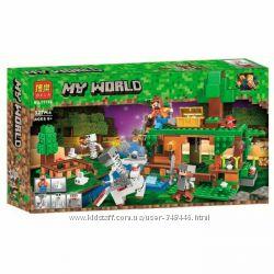 Конструктор Bela 11138 Minecraft Битва за сокровища майнкрафт