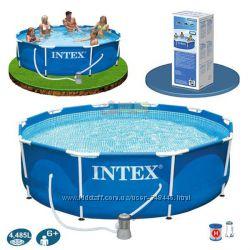Бассейн 305х76см Intex Интекс 28202 с насосом фильтром каркасный