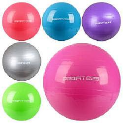 Фитбол, мяч для фитнеса, размеры 45, 55, 65, 75, 85 см, цвета разные Profit