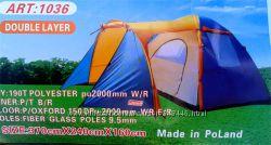 Туристическая палатка 4-х местная Coleman 1036 с тамбуром, колеман четырех