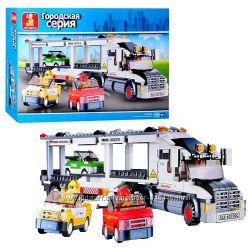 Конструктор M38-B 0339 Автовоз, грузовик фура, Sluban