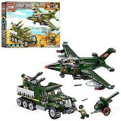 Конструктор Brick 1710 Военный транспорт самолет машина