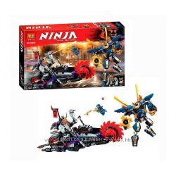 Конструктор Ninja Bela 10805 Киллоу против Самурая Икс  ниндзяго бела