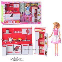 Набор мебели Кухня с куклой Defa 8085 типа Барби два вида