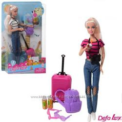Кукла Defa Lucy 2 вида, туристка 8389 типа барби