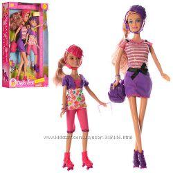 Кукла Defa Lucy 8130 с дочкой, типа барби, ролики