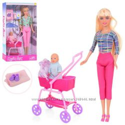 Кукла с ребенком Defa 8358 коляска, аксессуары. дефа типа барби