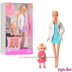 Кукла Defa Lucy 2 вида, доктор, с куколкой, с инструментами 8348 типа барби