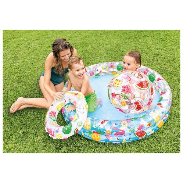 Набор бассейн, круг, мяч интекс intex 59460