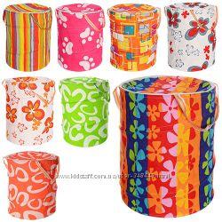 Корзина для игрушек тканевая , ткань