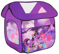 Палатка 8009 пони, фроузен, принцессы  в сумке 114x102x110см