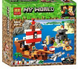 Конструктор Bela 11170 Приключения на пиратском корабле Minecraft майнкрафт