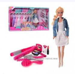 Кукла с нарядами Defa 8426-BF Дефа, одежда платья, обувь, сумочки