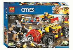 Конструктор Bela 10875 Тяжелый бур для горных работ Сити City