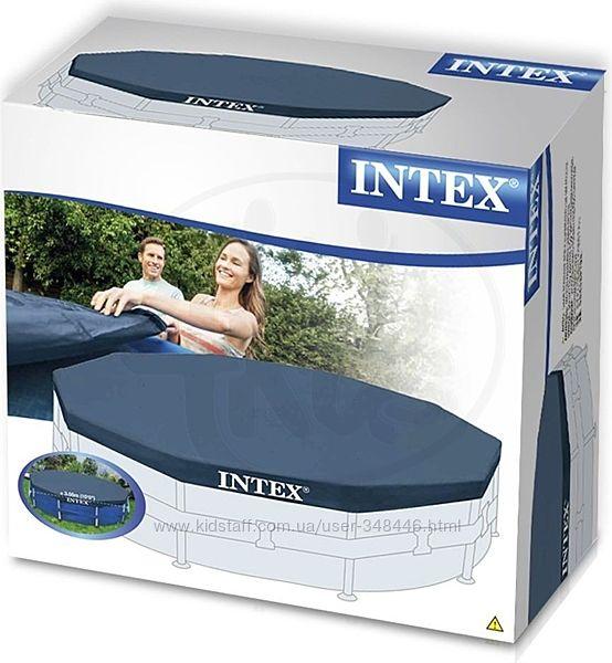 Тент 28032 для круглого каркасного бассейна 457см Intex интекс
