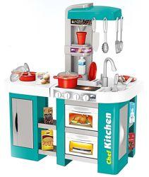 Кухня 922-46 с холодильником и водой детская, голубая и фиолетовая