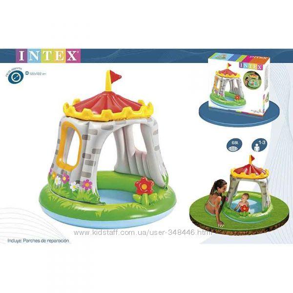 Бассейн Замок Intex 57122 Интекс надувной с навесом детский