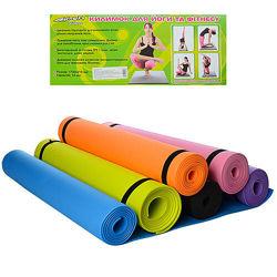 Йогамат коврик для фитнеса, йоги M 0380-1