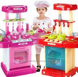 Кухня чемодан 008-58А с посудкой 008-58 два цвета