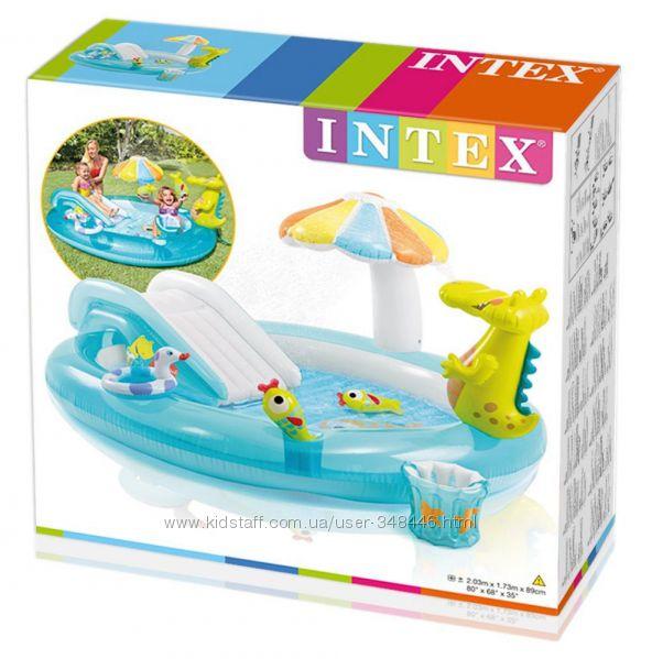 Бассейн с горкой 57165 Intex, Интекс, игровой центр