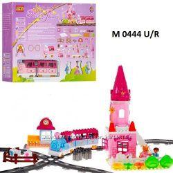 Конструктор Волшебное путешествие, Розовый Вокзал  крупные детали 6288 А