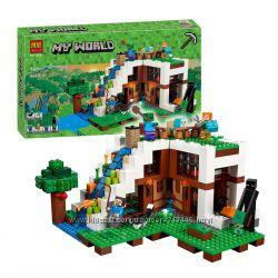 Конструктор Bela 10624, 33052 Minecraft майнкрафт, база на водопаде