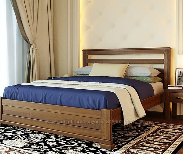 ліжко, кровать Лорд, масив Бук, дерево натуральне