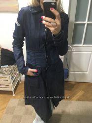 Красивый стильный джинсовый плащ-платье Scervino Street оригинал Италия