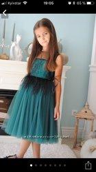 Шикарное нарядное платье с перьями