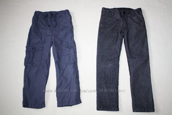 Вельветовые брюки на подкладке и летние штаны