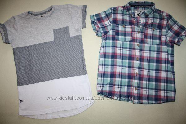 Футболка NEXT и рубашка Matalan без нюансов