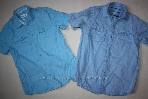 Фирменные рубашки лён отличное состояние
