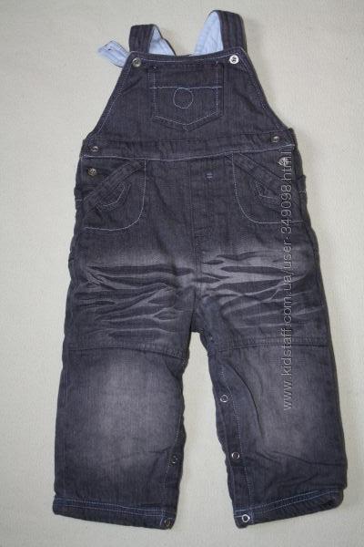 Тёплый джинсовый комбинезон GEORGE без нюансов