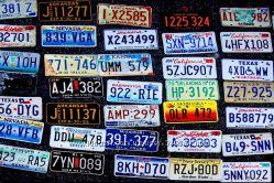 Автомобильные ретро номерные знаки США