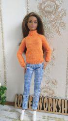 Одежда для кукол Барби. Свитер для Барби. Выбери сам себе цвет свитера