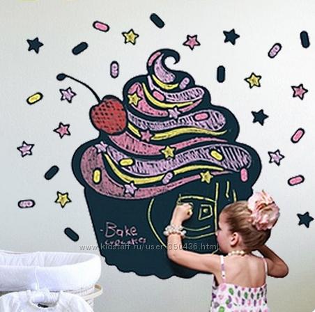 Виниловая доска-стикер Рисуем мелом