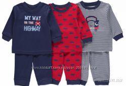 Пижамы трикотажные для мальчиков до 2-х лет Primark, Early days - Англия.