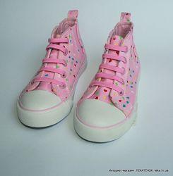 Высокие кеды без шнурков для девочек YD Primark Англия.