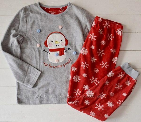 Пижамки  флис на 7-15 лет Primark
