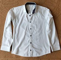 Рубашка с длинным рукавом Kniazhych. Ворот 35, 158-164 см.  SlimFit