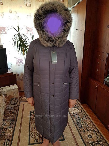 Пальто зима с натуральным мехом