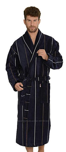 Мужской махровый велюровый халат Gursan
