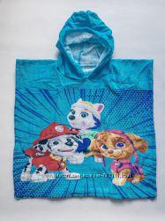 Пляжное полотенце пончо детское
