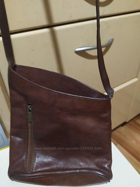 Сумка кожа Genuine Leather Италия