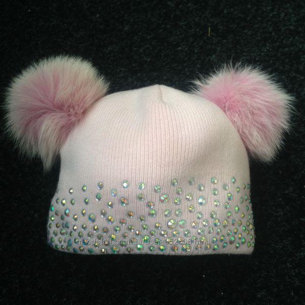 Нежная тёплая шапуля 52-54р