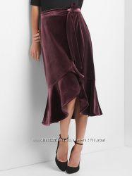Стильная юбка бархат Gap