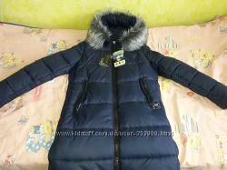 Теплая куртка Арнелла Nui Very темно синяя 46р