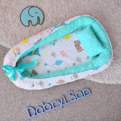Кокон-позиционер гнездышко для новорожденных